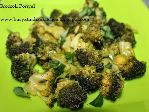 Broccoli Poriyal Broccoli Poriyal