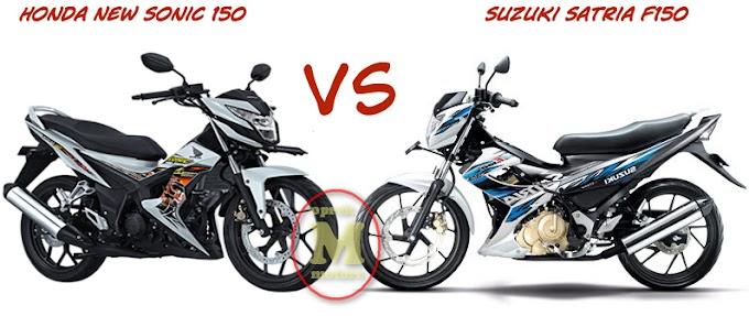 Perbandingan Performa Honda Sonic 150 Vs Suzuki Satria F150 - Siapa Nih yang Unggul?
