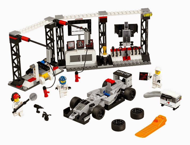 Speed Champions McLaren Mercedes Pit Stop in LEGO MP4-29