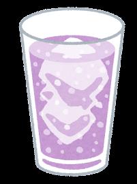 炭酸飲料のイラスト(紫)