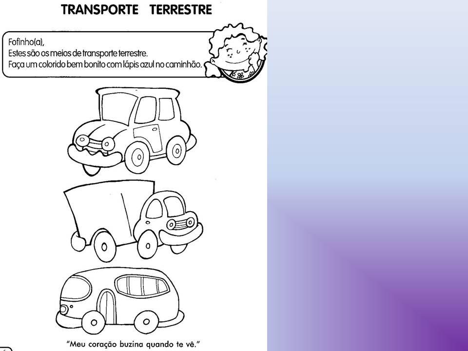 Favoritos Educação Infantil: Primeiros Passos: Projeto meios de Transporte  ON62