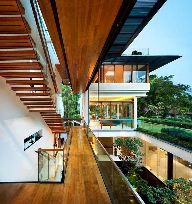 Rumah Mewah Dinding Kaca Besar Desain 888 Oleh Guz Architects