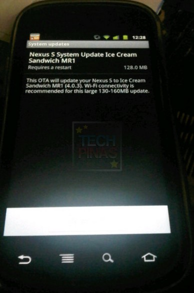 google nexus s android 4.0