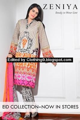 Zeniya Ready To Wear Eid Collection 2015 by Deepak Perwani