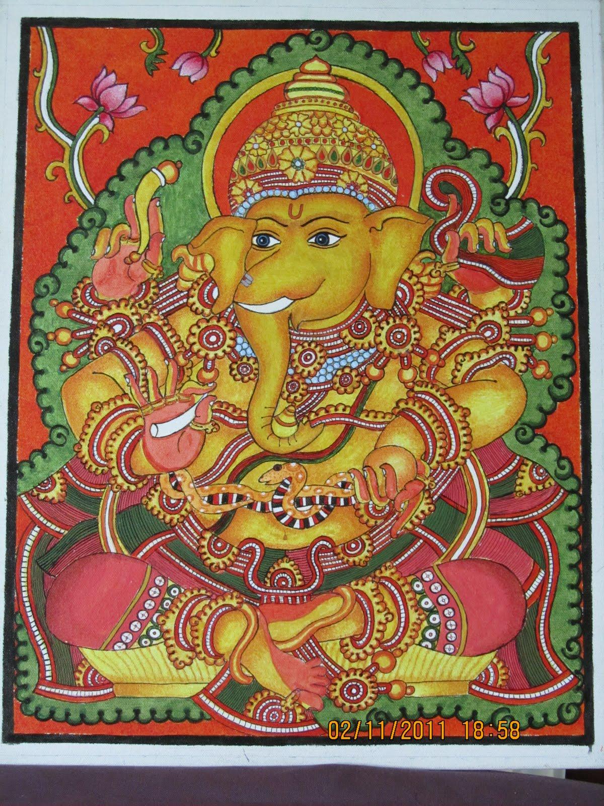 Binchi soulsearch february 2012 for Mural ganesha
