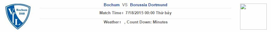 Bochum vs Dortmund link vào 12bet