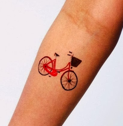 Bicycle - cute small arm tattoo