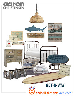 surf beach travel room for teen mood board