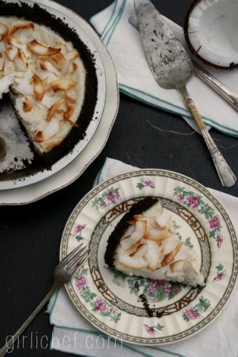 Coconut No-Cream Pie #dairyfree