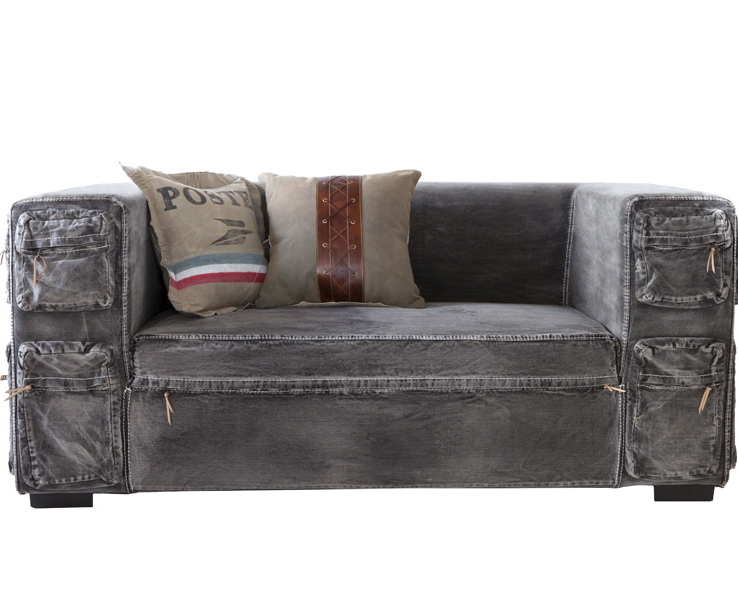 Ros e denim inspirations Denim loveseat