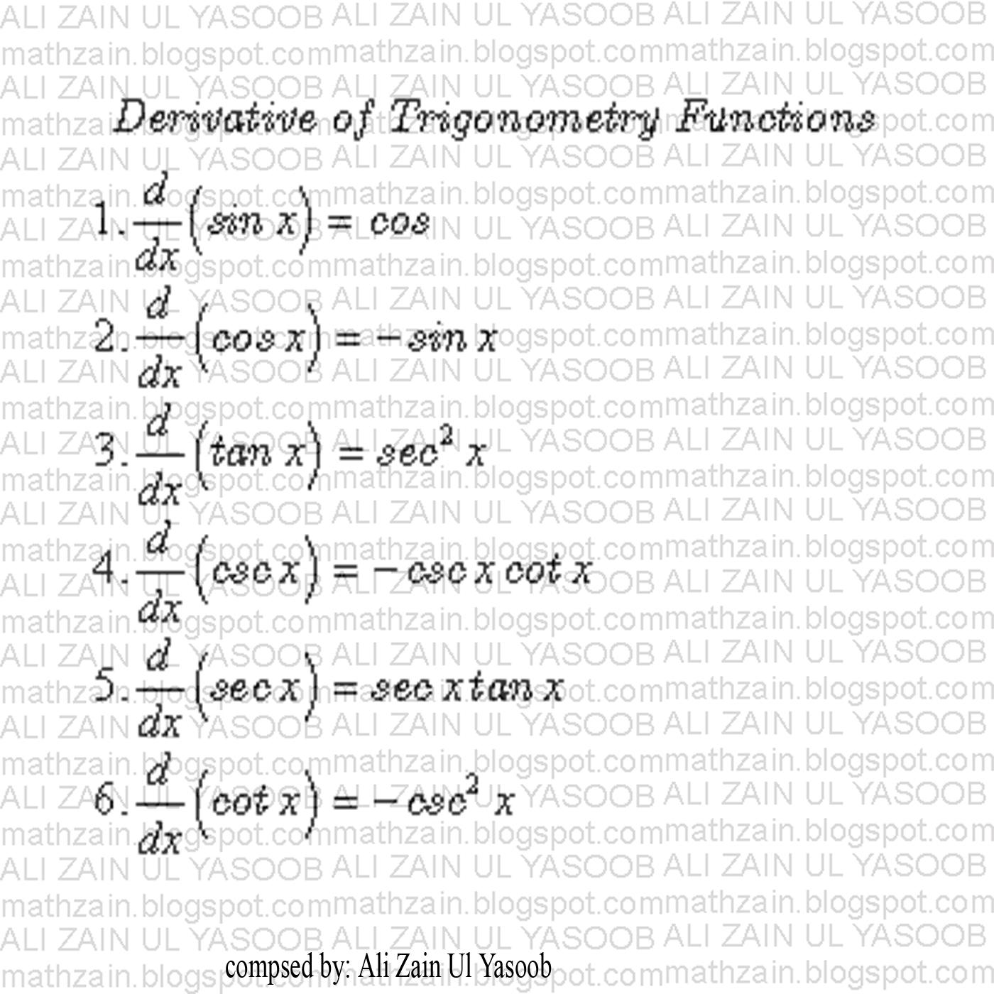 MATHZAIN  Derivative O...