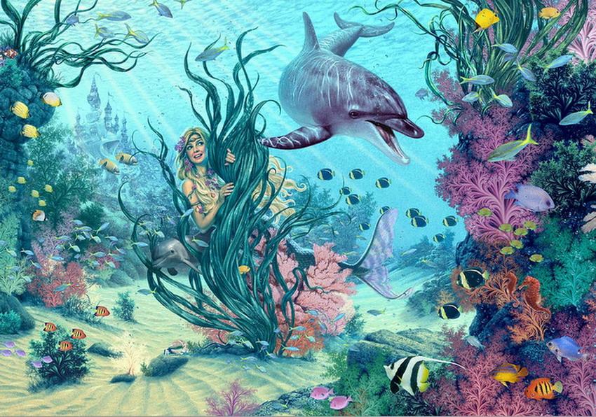 Cuadros pinturas oleos cuadros de coloridos peces en el - Pinturas al agua ...