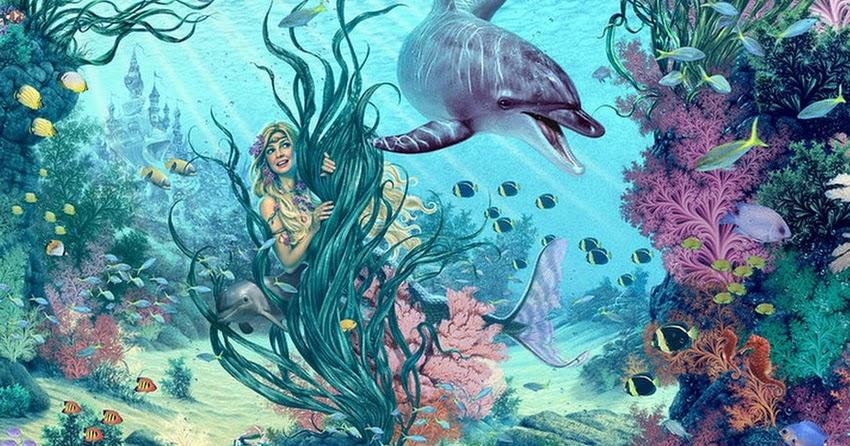 Cuadros modernos cuadros de coloridos peces en el agua de - Cuadros con peces ...