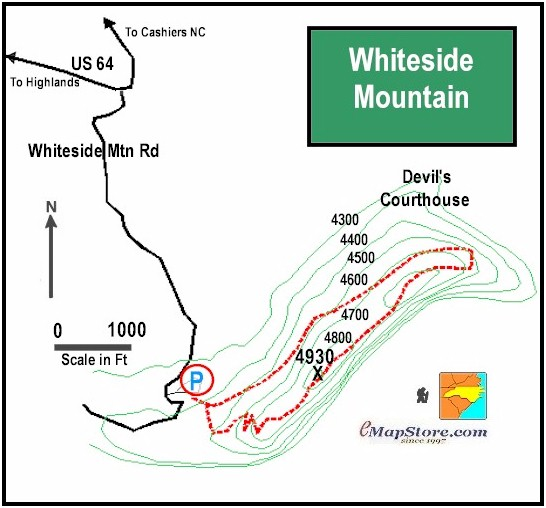 Hiking Adventures Whiteside Mountain