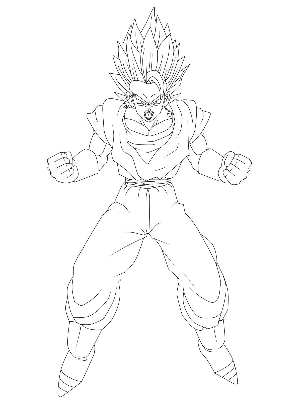 Dibujos De Dragon Ball Z Para Colorear Vegito picture gallery