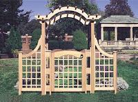 Garden Arbor With Gate1