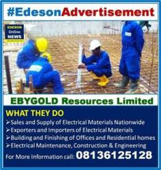 ADVERT: Sales , Supply & Engineering of Electrical Materials for Offices, Homes, Hotel