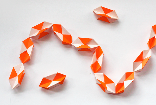 Make A Geometric Origami Garland How About Orange
