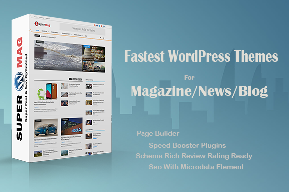 Free Download Supermag V1.0 - Fast Material Magazine Wordpress Theme