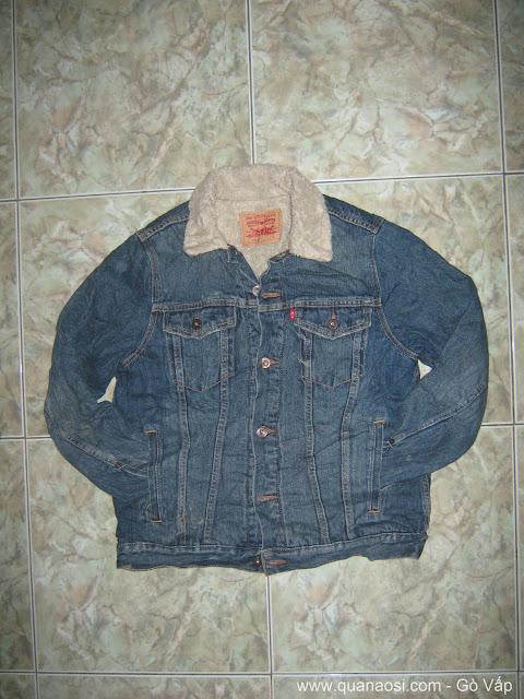 Áo khoác jean lót lông hiệu LEVIS USA giá rẻ 600k