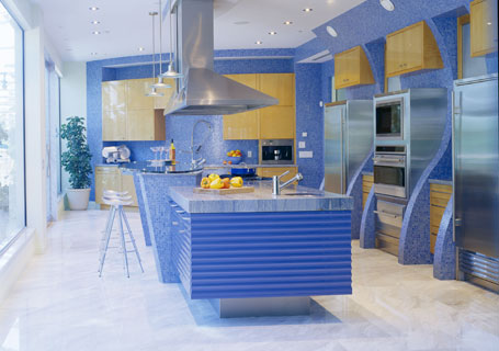 And This One, By XTC Design, Is An Ocean Themed Kitchen.