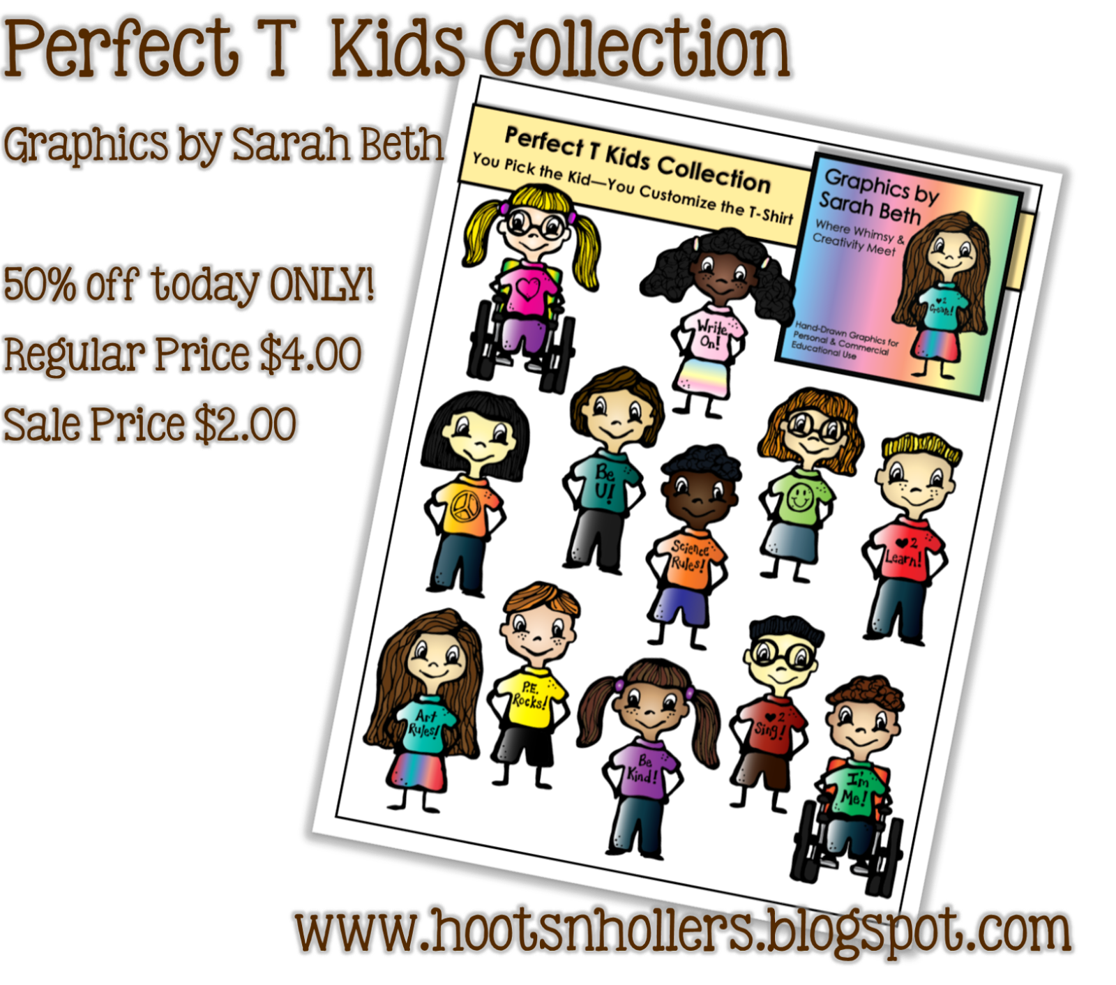 http://www.teacherspayteachers.com/Product/Perfect-T-Kids-Collection-Clipart-Kids-Graphics-727471
