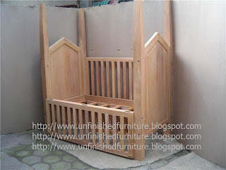 Indonesia Furniture supplier solid mahogany wood baby bed