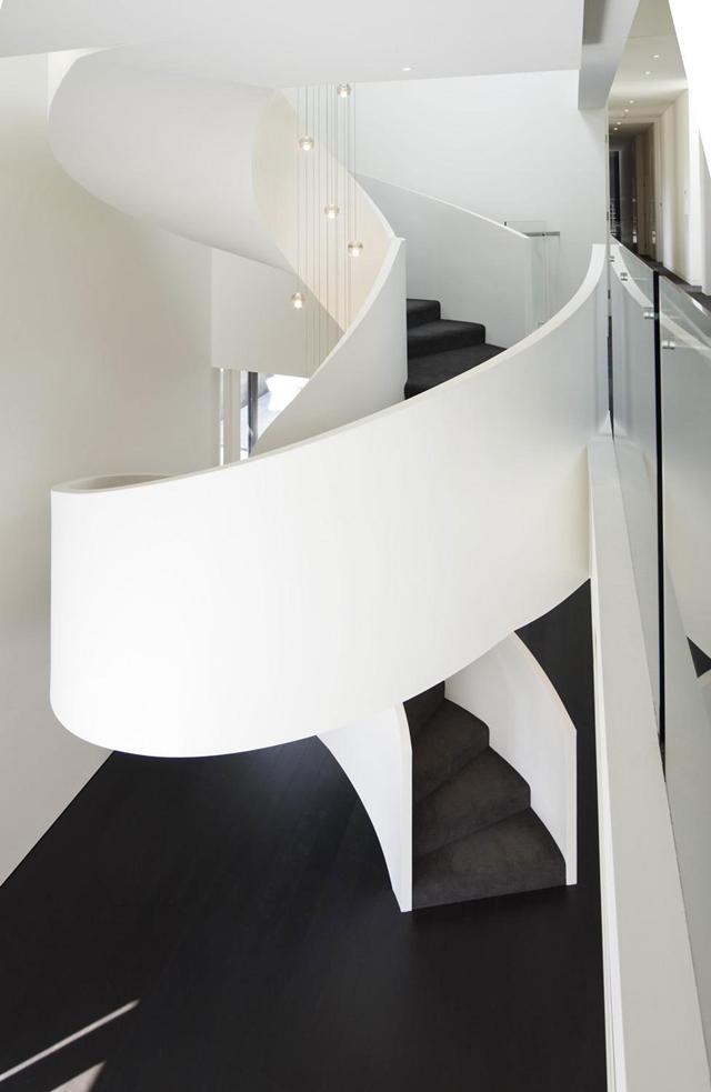 White circular staircase