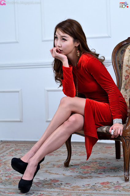 3 Hot Red - Go Jung Ah -Very cute asian girl - girlcute4u.blogspot.com