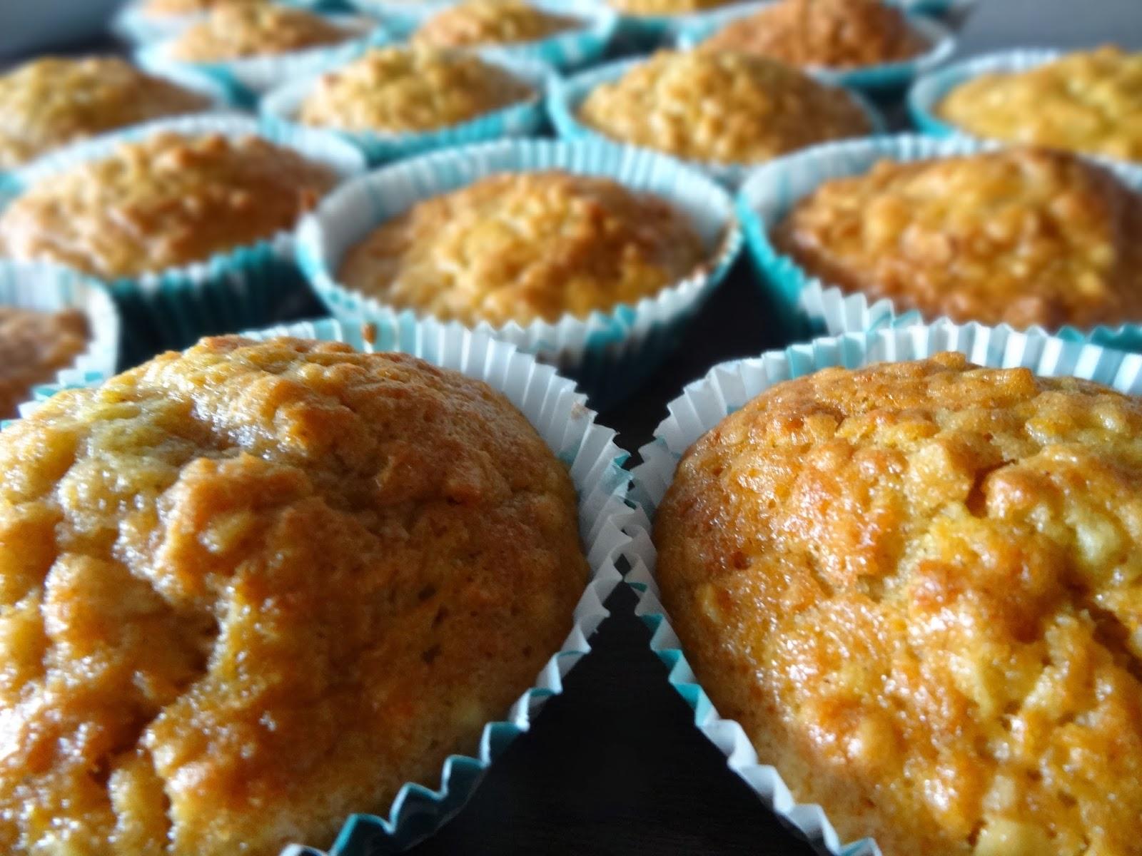 Rezept für Möhrenmuffins mit Frischkäse-Topping