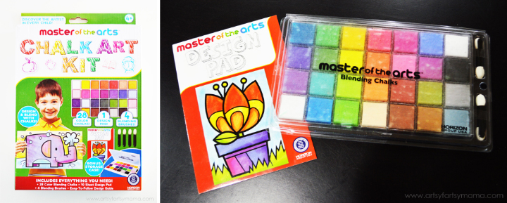 Master of the Arts Chalk Art Kit at artsyfartsymama.com #preschool #kidscrafts #chalk