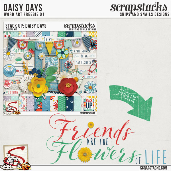 Daisy Days Word Art Freebie