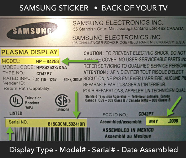 Tv repair tech blog southern california for Mirror for samsung tv license key