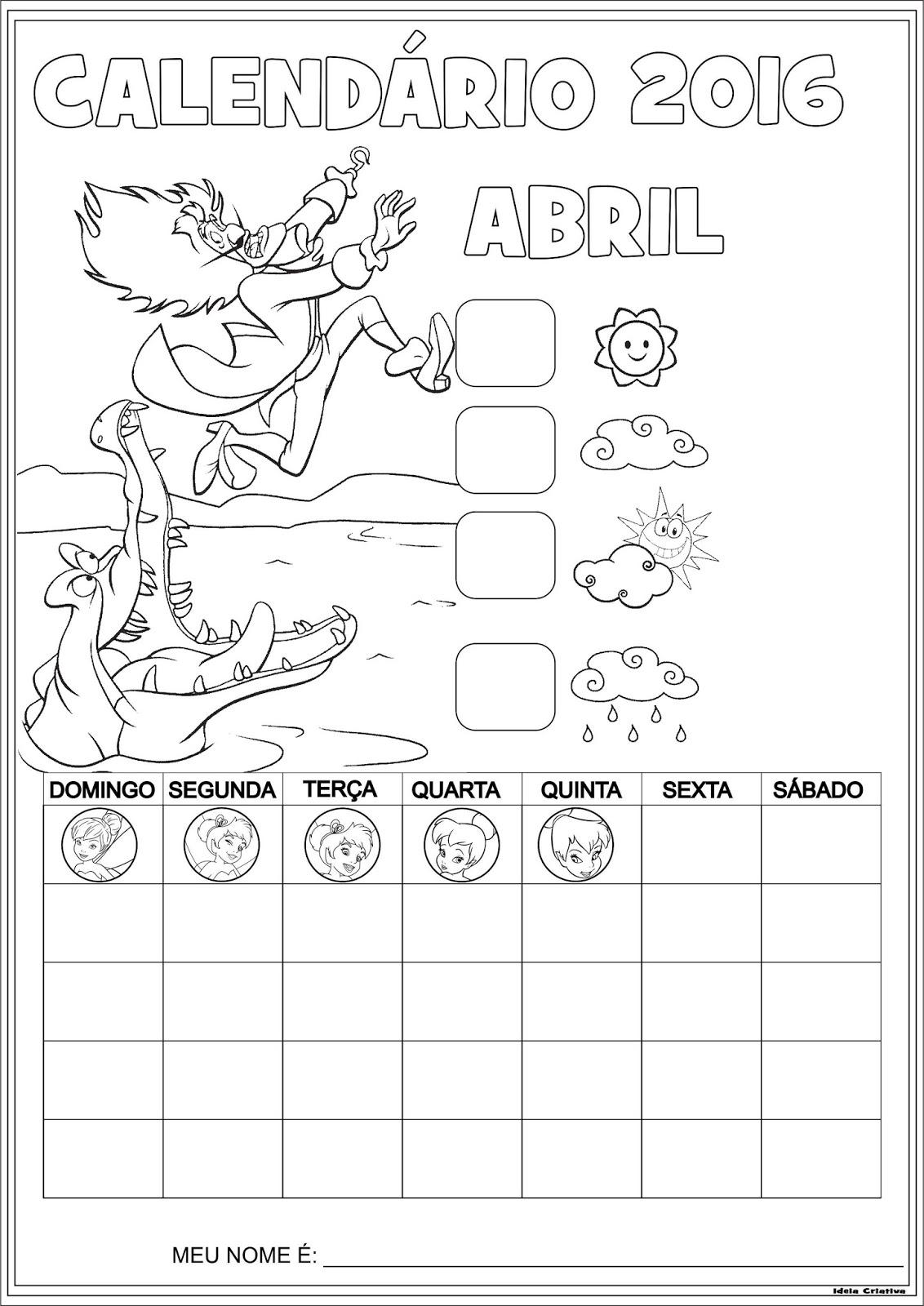 Calendario 2016 Divertidos | Calendar Template 2016