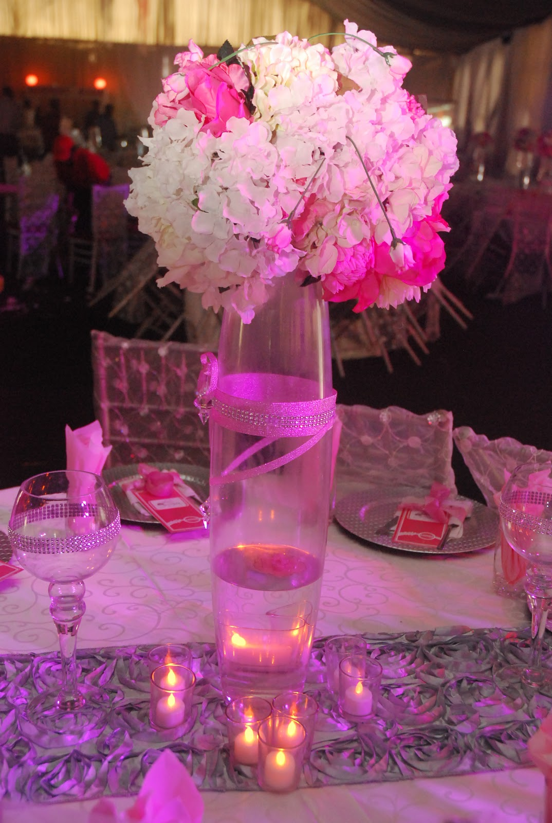 AQUARIAN TOUCH EVENTS NG: WEDDING CENTREPIECES
