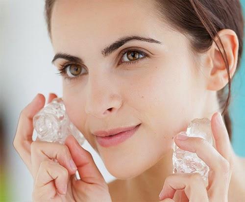 Cách làm trắng da bằng nước đá lạnh