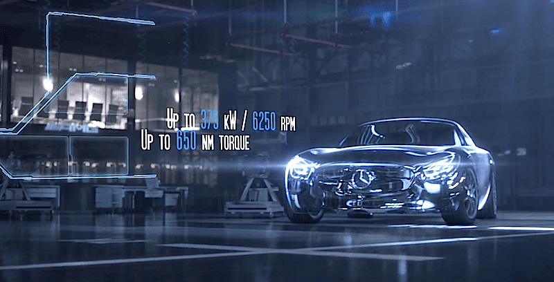 メルセデスAMG GTに搭載される最新V8エンジンの動画を公開!