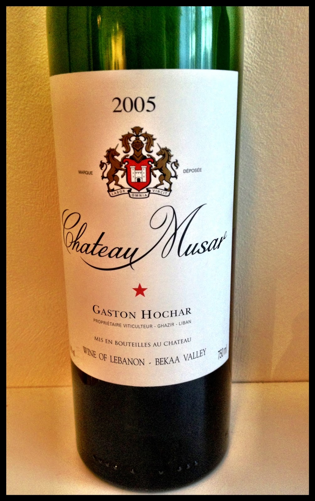 Tasting note on the 2005 Chateau Musar