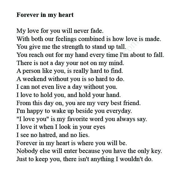 together forever poems for her
