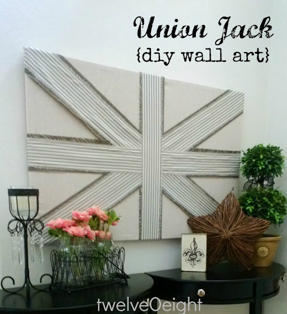 union jack diy wall art