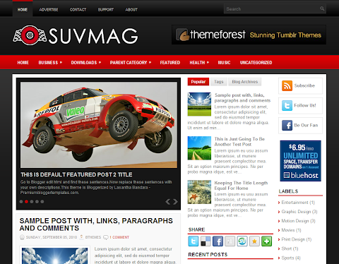 SuvMag Blogger Theme
