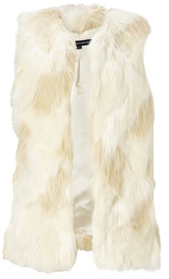 french connection fur vest