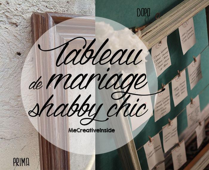 spesso Tableau de mariage shabby chic con cornice di riciclo - ME  DW96