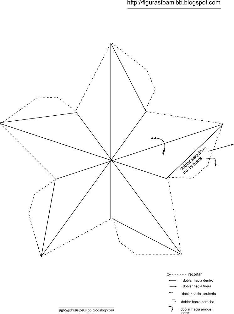 Figuras y moldes de foami molde estrella3d arbol navidad for Figuras para navidad