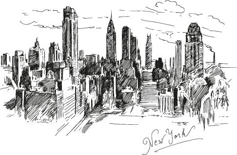 Nueva York a plumilla - vectoriales