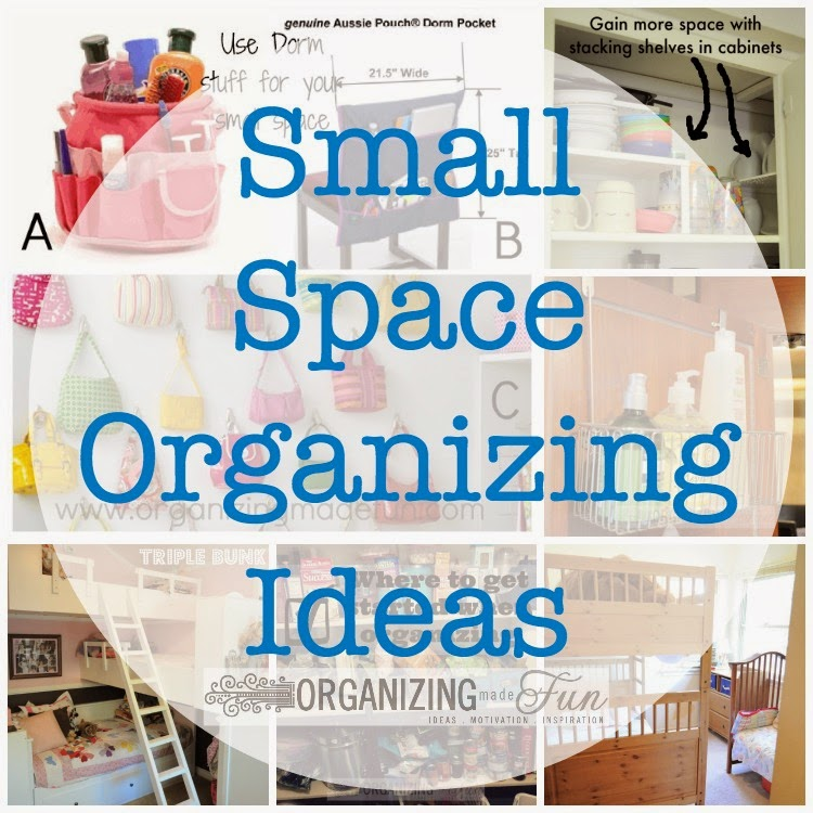 Small Space Organizing Ideas :: OrganizingMadeFun.com