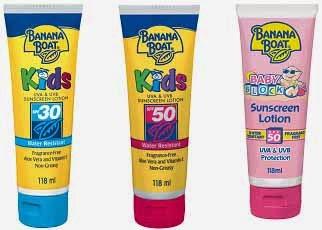 Banana boat sunscreen untuk anak-anak dan bayi