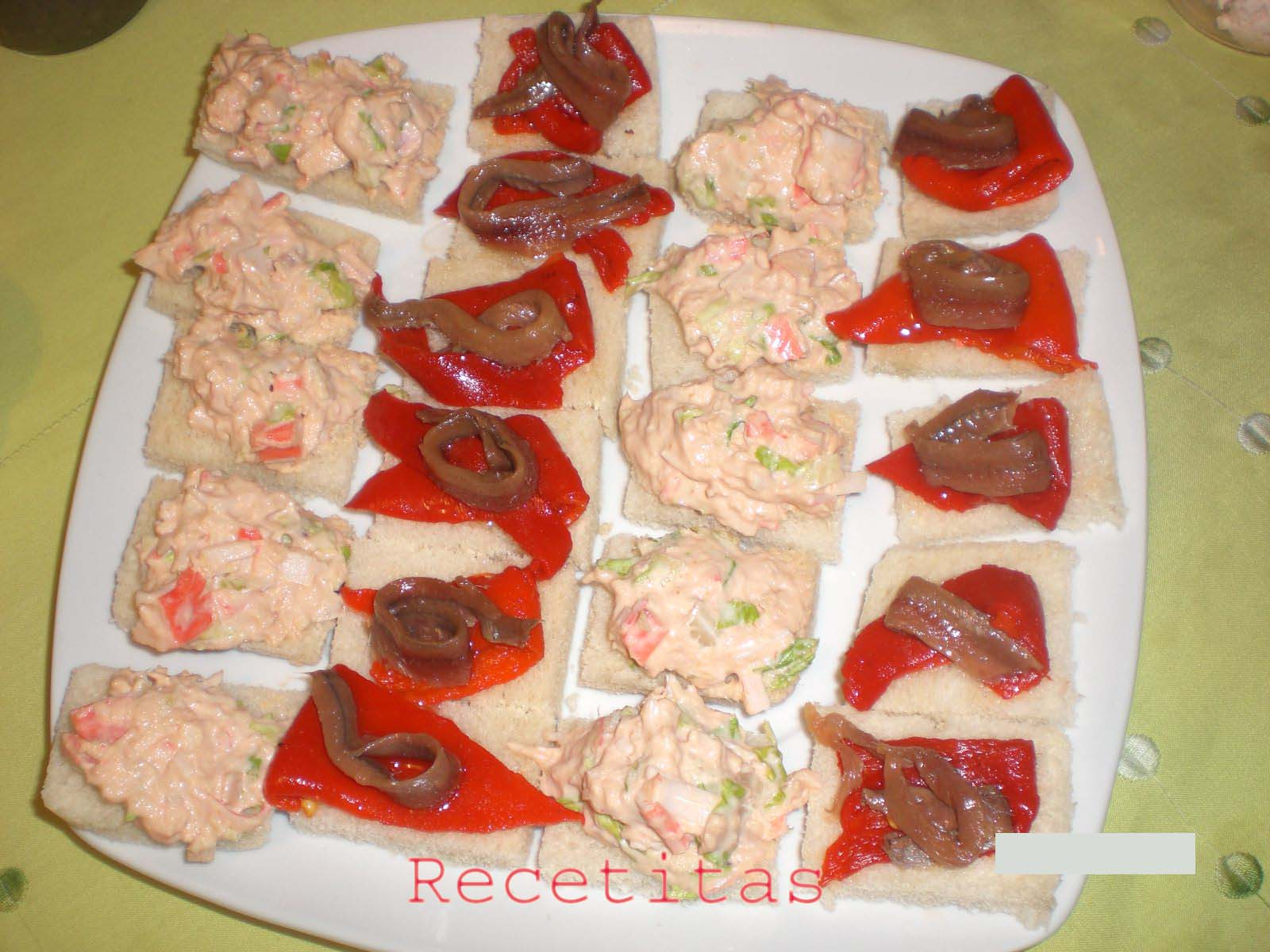 Canapes 2 mis humildes recetitas for Canape de cangrejo