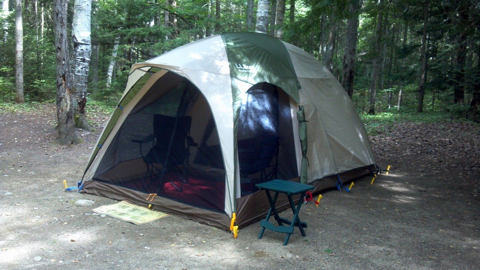 We set up the new LL Bean King Pine tent (which we really love) and got settled in for the evening. Nobody else in our group was arriving before Friday so ... & Ramblings: Imp Face - Seek the Peak Warm-up