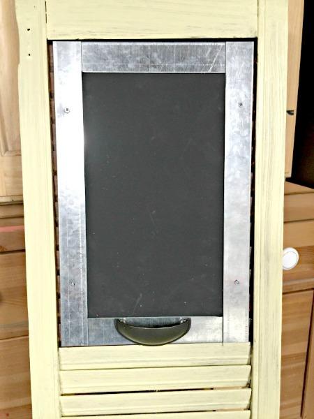 Beautiful Vintage Shutter Shelf Chalkboard www.homeroad.net
